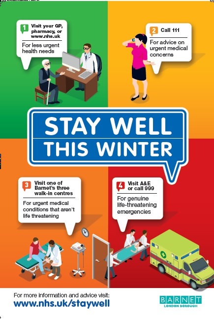 stay well this winter promotional poster