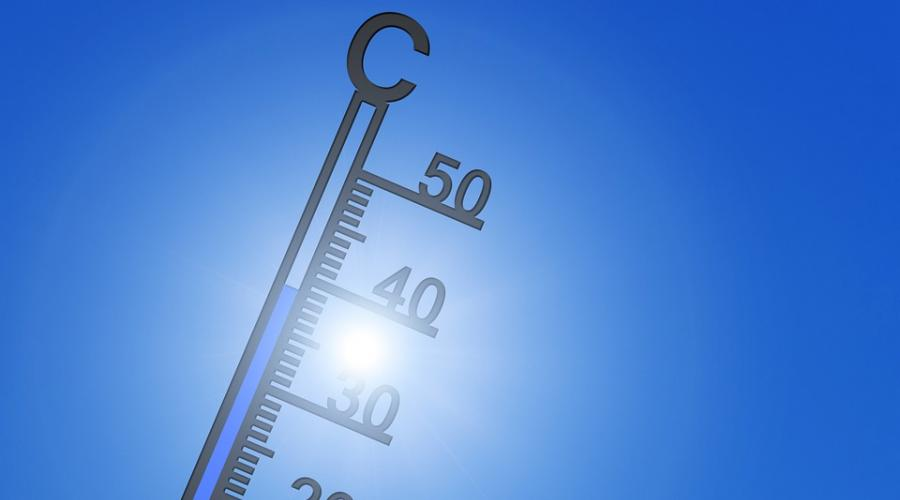 A picture of a thermometer